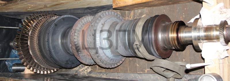 Ремонт ротора турбины компрессора синтеза газа